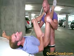 Gays Cock Sucking And Fucking In Public Garages 4 By OutInCrowd