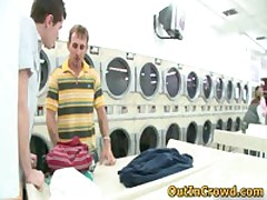 Horny Gays Having Sex In Public Laundry 1 By OutInCrowd