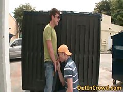 Gay Twink Sucks On The Street And Fucking On The Public Toilets 3 By OutInCrowd