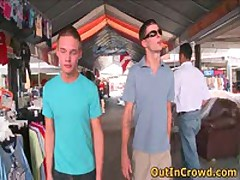 Twink Public Gay Fucking On The Flea Market 2 By OutInCrowd