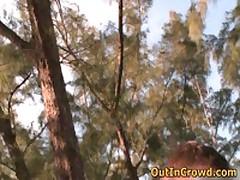 Youn Dudes Enjoys Outdoor Gay Fucking 3 By OutInCrowd