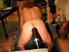 Giant Black Dildo In The Ass