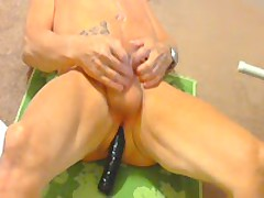 Slut Whore Using Dildo