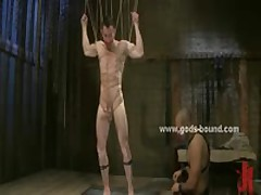 Gay Master In Leather Pants Bondage Sex