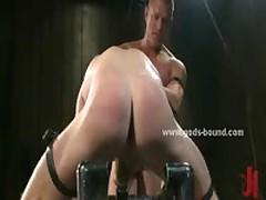 Gay Hunk Tied Upside Down In Bdsm Sex