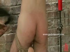 Horny Gay Pervert In Leather Outfit Bdsm