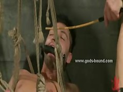 Gay Hunk With Hot Body Tied In Ropes