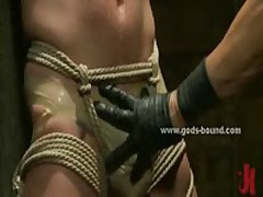 Strong Gay Hunk In Bondage Pervert Sex