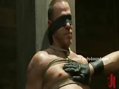 Strong Gay Hunk In Bondage Pervert Sex
