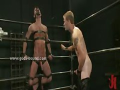 Pair Of Gay Sex Slaves Bound And Fucked