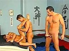 Three Jocks Fucking At The Gym 4