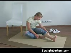 Amazing Blond Heterosexual Jackson Pulling His Tube 1 By StraightJerkers