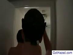 Hetero Dudes Standing In Line To Get Homosexual Hazing By Gothazed