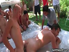 Crowd Group Homosexual Hazed 15 By GotHazed