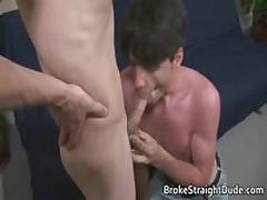 Queer Clip Of Heterosexual Bobby & Darren Sucking Jizzster For Monies Four By BrokeStraightDude