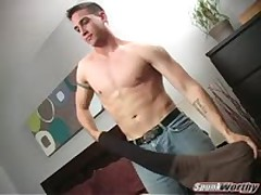 Hot Str8 Marine Jerks His Cock