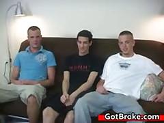 Austin, Michael & Mike Broke Threesome Gay Porn 4 By GotBroke