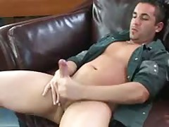 Hottie Strokes His Cock Until It Explodes
