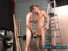 Dylan And Gaving Sucking And Fucking At The Job 3 By HardOnJob