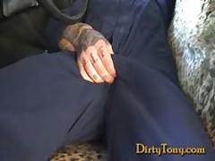 Hot Uncut Tattooed Mechanic