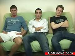 Blake, Damien & Jeremy Gay Threesome Gay Porn 3 By GotBroke