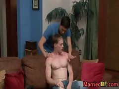 Hot Married Straight Stud Riding Gay Cock 1 MarriedBF