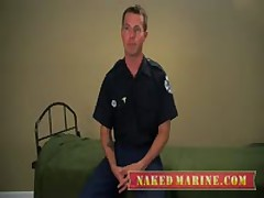 Tattooed Firefighter Sprays His Hot Load