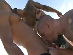 UNCUT COCKS Threesome In Spain