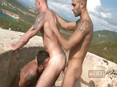 UNCUT COCKS Threesome In Spain