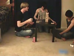 Three Amazing Good Looking Twinks Having A Games Night 2 By YummyTwinks
