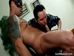 Sexy God Getting His Fine Erection Sucked Off Three By GotMasked