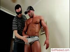 Beefy Bro Getting Uncut Hard Sausage Sucked Off By Gotmasked