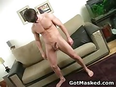 Hunky Queer Dude Undressing And Masturbating His Penetrator Three By GotMasked