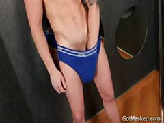 Masked Stud Jerking His Amazing Uncut Penis 2 By GotMasked