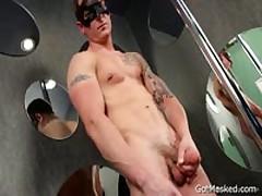 Masked Stud Jerking His Amazing Uncut Penis 2 By GotMasked