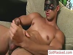 Amazing Masked Hunk Jerking Off Cock 2 By GotMasked
