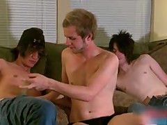 Hot Gay Threesome With Handcuffs 2 By BoysFeast