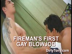 Fireman'S First Blow Job