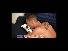 Sexy Firefighter Fucks Marine Hard