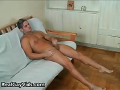 Julian Pulling His Crazy Firm Gay Boner 2 By RealGayVids