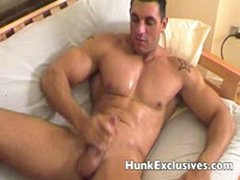 Sexy Hunk Playing His Massive Cock