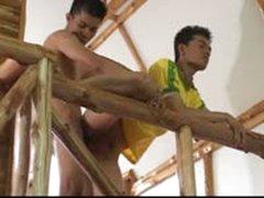 Thai Boys Stairway Fuck
