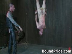 Nick Noman Plastic Wrapped And Gets His Hard Cock Jerked 2 By BoundPride