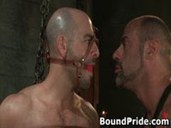 Dude Tight Up Like A Meatroll And Gets His Cock Sucked 3 By BoundPride