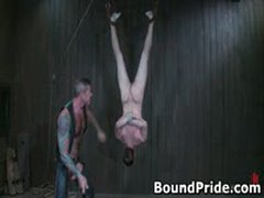 Nick Noman Plastic Wrapped And Gets His Hard Cock Jerked 3 By BoundPride