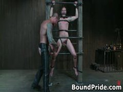 Nick Noman Plastic Wrapped And Gets His Hard Cock Jerked 6 By BoundPride