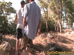 Youn Dudes Enjoys Outdoor Gay Fucking 1 By OutInCrowd