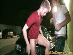 Blond Horny Gay Fucked On The Trunk Of A Car 2 By OutInCrowd