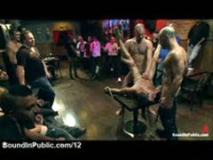 Bound Gay Fucked And Cover In Cum In Public Bar