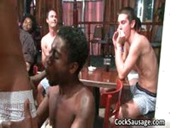 Large Group Of Horny Dudes Go Crazy 4 By CockSausage